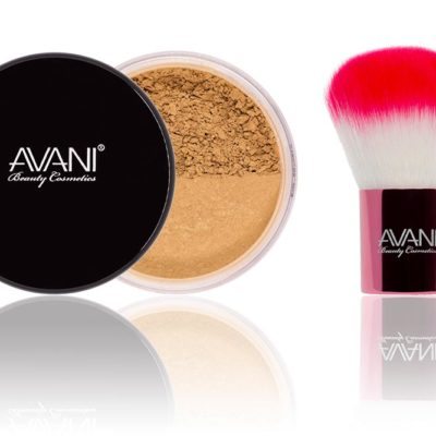 Dark foundatuon & kabuki brush set